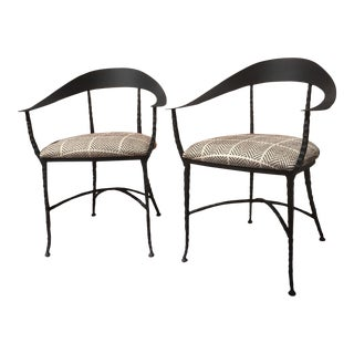 Modern Charleston Forge Guild Arm Chairs - A Pair For Sale