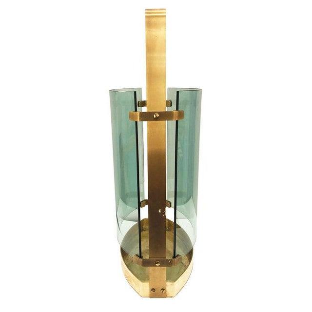 Hollywood Regency 1960s Fontana Arte Brass Umbrella Stand For Sale - Image 3 of 6