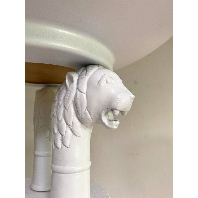 Neoclassical Neoclassical Triple Lion Head Torchiere Floor Lamps -A Pair For Sale - Image 3 of 9