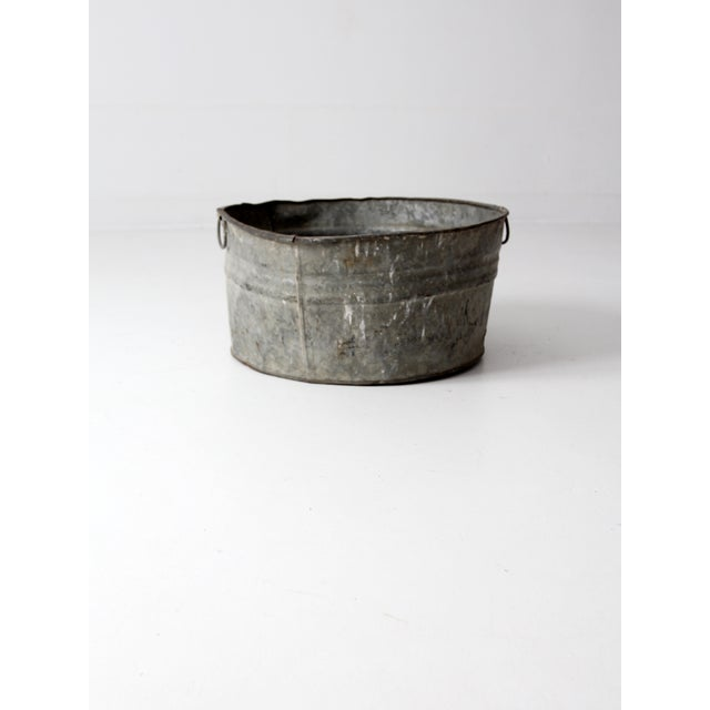 Vintage Galvanized Tub Basin - Image 3 of 8