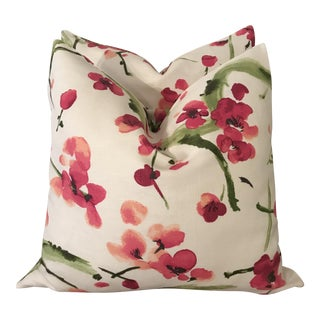P Kaufman Linen Pillows - A Pair For Sale