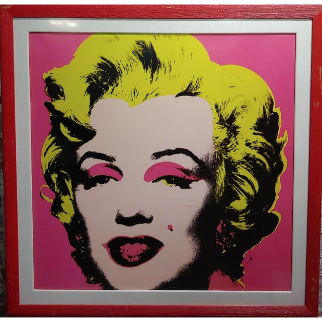 "Abstract Andy Warhol ""Marilyn Monroe""Vintage Screenprint by Sunday B. Morning For Sale - Image 3 of 7"