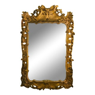 19th Century French Louis XV Gilt Carved Mirror For Sale