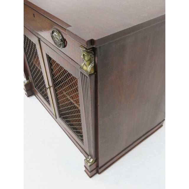 Antique 19th C. Regency Style 2-Door Cabinet - Image 6 of 6
