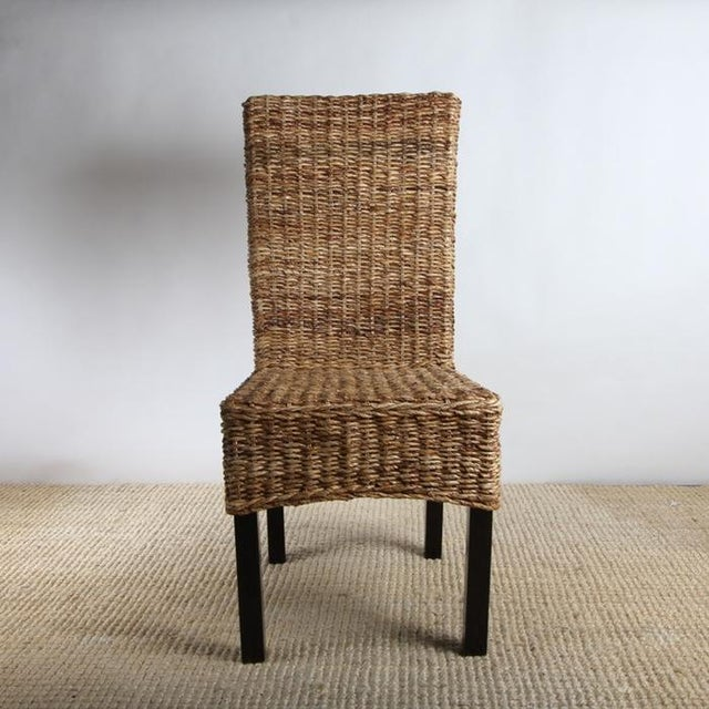 Rattan Dining Chairs - Pair - Image 3 of 8