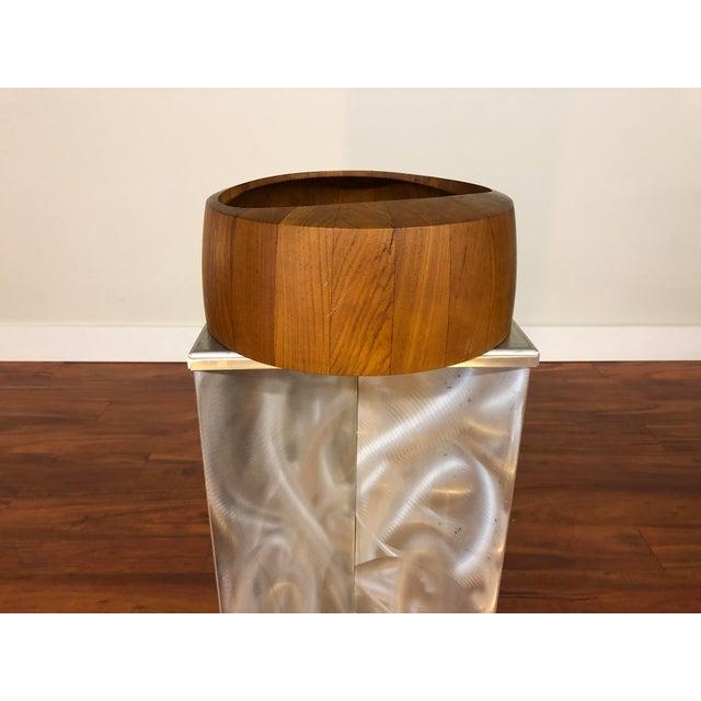 1960s Jens Quistgaard Staved Teak Bowl by Dansk For Sale - Image 5 of 9