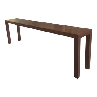 Mid-Century Walnut Parsons Console Table For Sale