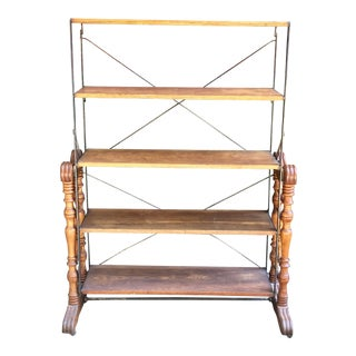 Late 19th Century Antique Adjustable Bakers Rack For Sale