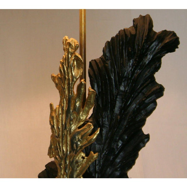French Gilt & Resin Lamp For Sale - Image 4 of 4
