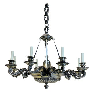 A Charles II Style Silver Chandelier For Sale