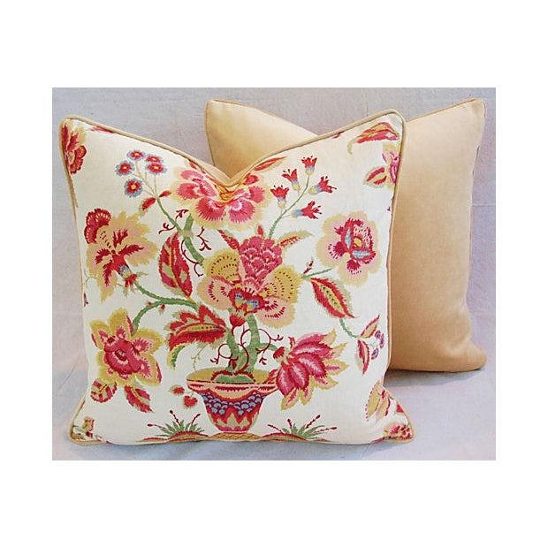 Custom Designer Lee Jofa Pillows - A Pair - Image 6 of 8