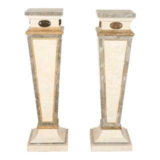Art Nouveau Marble Pedestals - A Pair