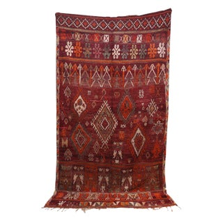 "1970s Boho Chic Moroccan Rug - 6'5"" X 10'10"" For Sale"