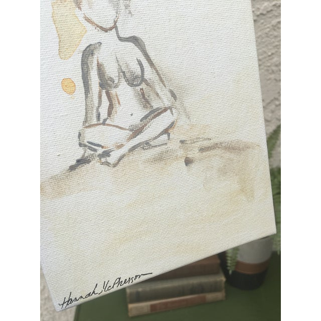 Neutral Nudes, No. 1 Original Acrylic Painting - Image 5 of 8
