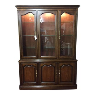 Kindel Vintage French Style China Cabinet For Sale