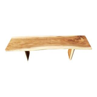 Suar Wood Live Edge Bench For Sale