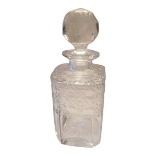19th Century Crystal Cut Decanter English For Sale