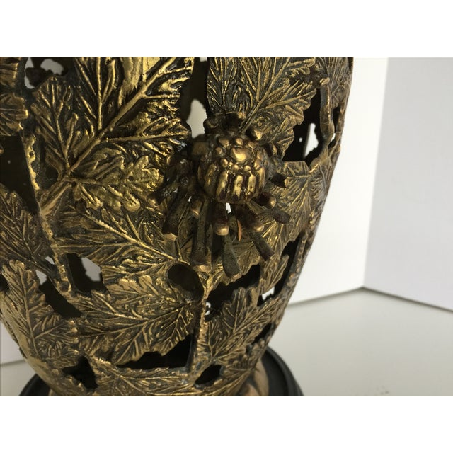 Mid-Century Brass Chinoiserie Lamp - Image 4 of 5