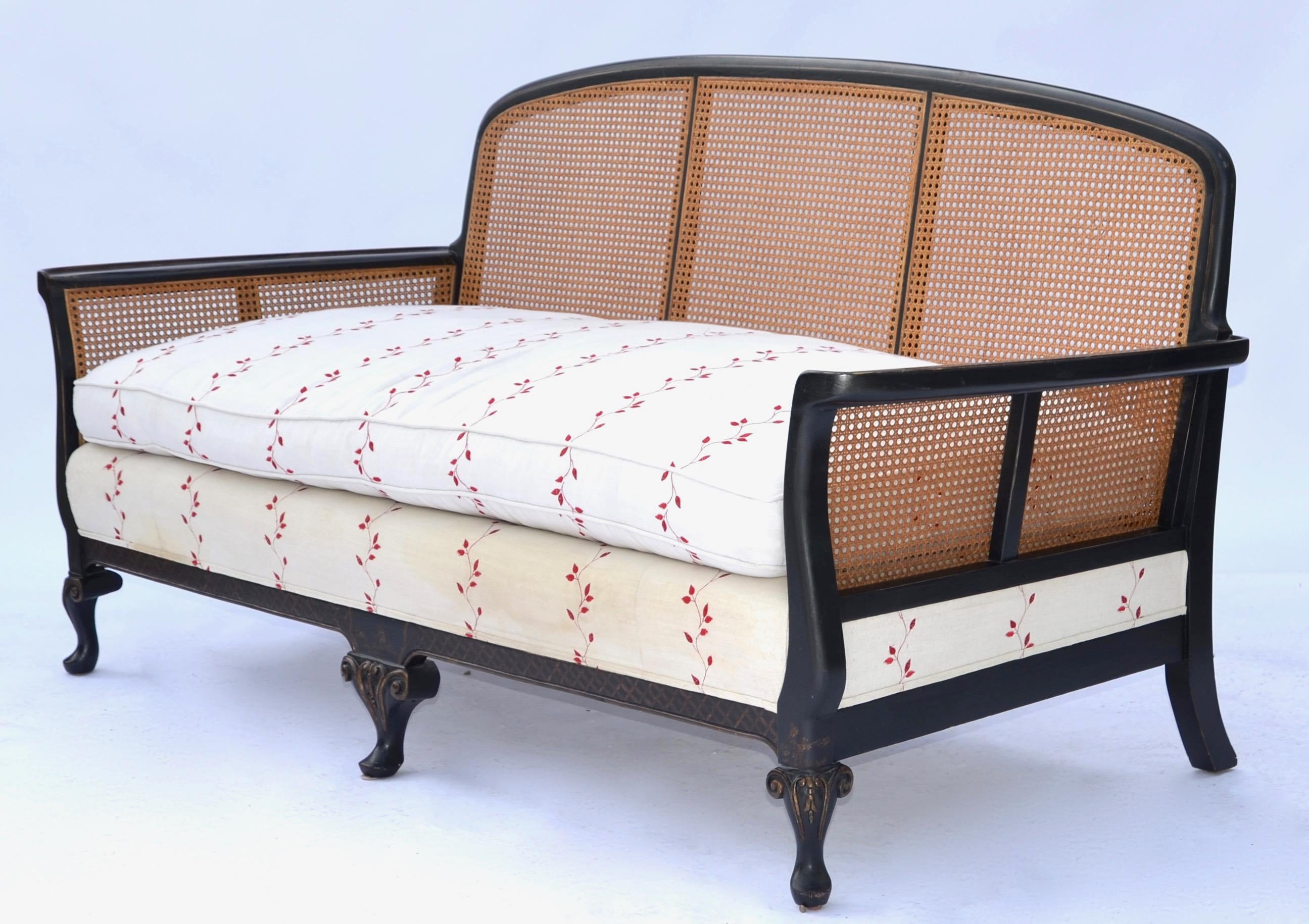 chinoiserie cane back settee sofa chairish rh chairish com cane back sofa antique