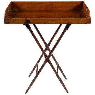 Geo III Mahogany Butlers Tray on Stand, Perfect for a Bar, Great Color, Patina For Sale