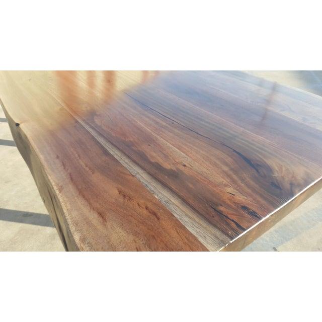 Acacia Wood Live Edge Table - Image 5 of 8