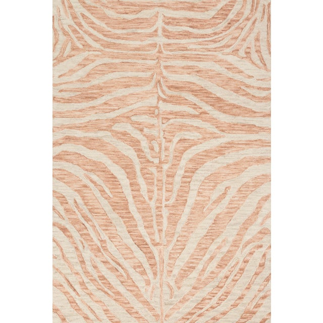 "Loloi Rugs Loloi Rugs Masai Rug, Blush / Ivory - 3'6""x5'6"" For Sale - Image 4 of 4"