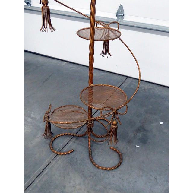 Mid 20th Century Hollywood Regency Style Gilt Plant Stand For Sale - Image 5 of 10