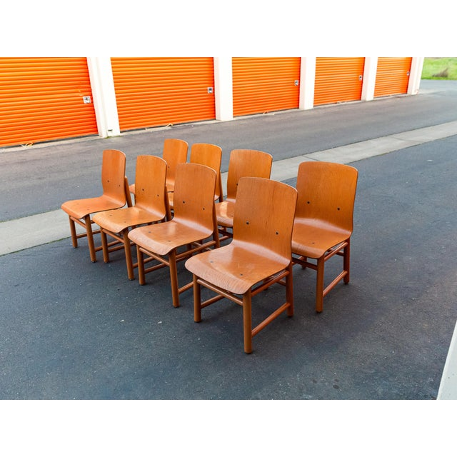 Vintage Modern Moulded Plywood Chairs - Set of 8 For Sale - Image 11 of 11