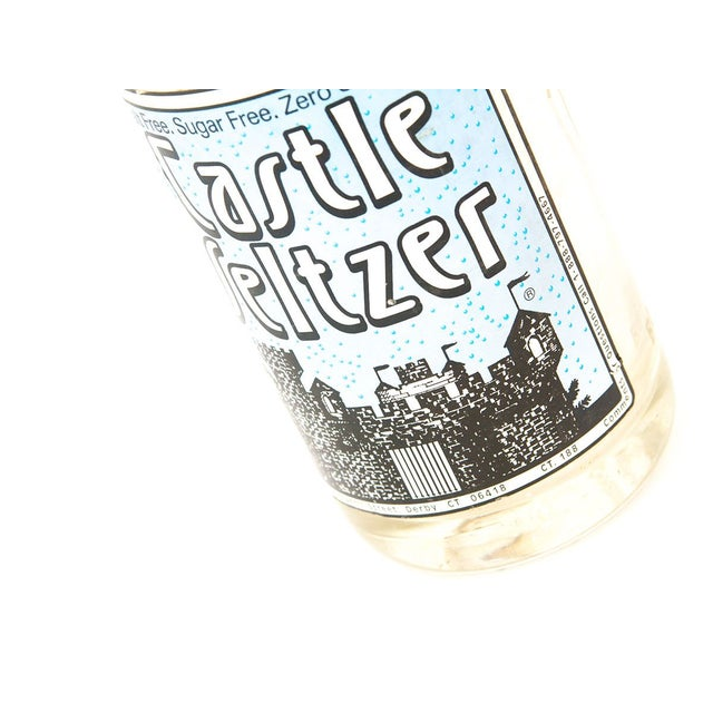 A vintage seltzer bottle from the Castle Seltzer Bottling Co. in Derby, Connecticut. Vintage seltzer bottles have a...