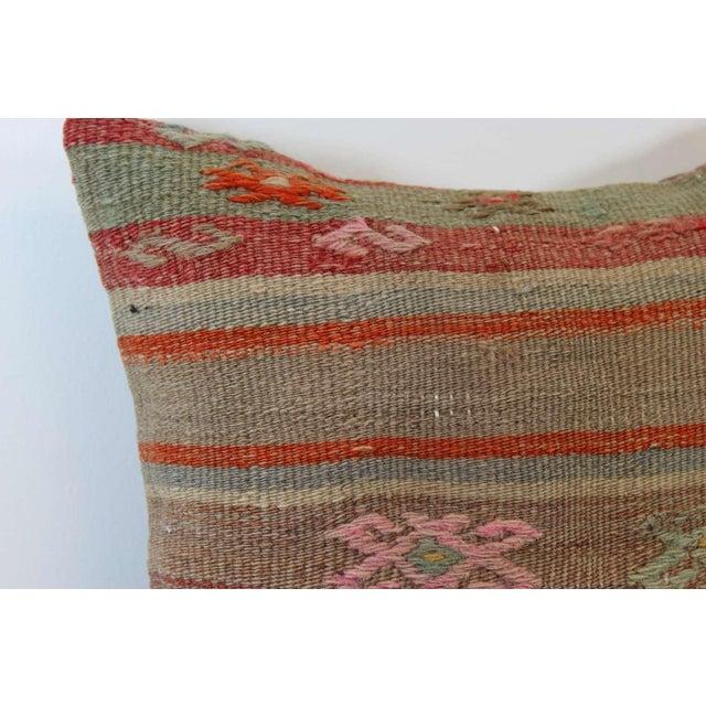 Turkish Handmade Kilim Pillowcase - Image 3 of 5