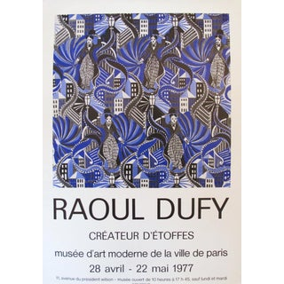 1977 Original Raoul Dufy Charlie Chaplin Exhibition Poster For Sale