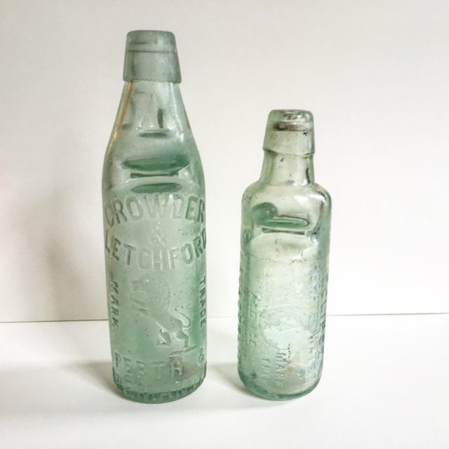 Antique Marble Medicine Bottles - A Pair - Image 2 of 9