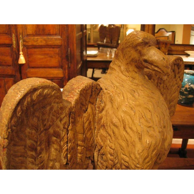 Wood 18th. Century Italian Carved Wood Eagle Sculpture For Sale - Image 7 of 8