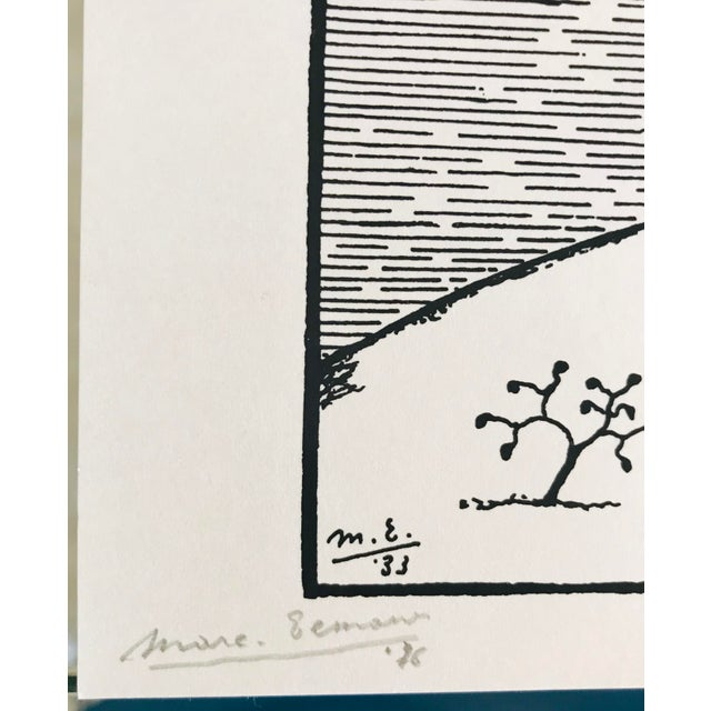 Figurative Marc Eemans Lithograph, Bathing 1976 For Sale - Image 3 of 6