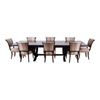 Barbara Barry for Baker Furniture Dark Mahogany Dining Set-Set of 9 For Sale