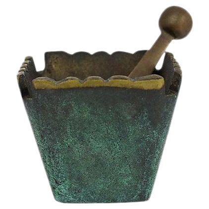 Mid Century Modern Brass Mortar & Pestle - Image 1 of 5