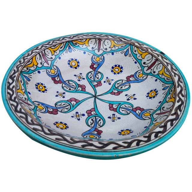 Antique Ceramic Bowl W/ Andalusian Motif For Sale - Image 9 of 9