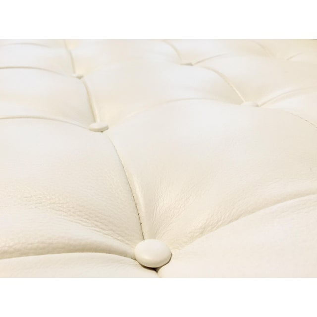 Kardiel Warm White Leather Knoll-Style Sectional - Image 6 of 6