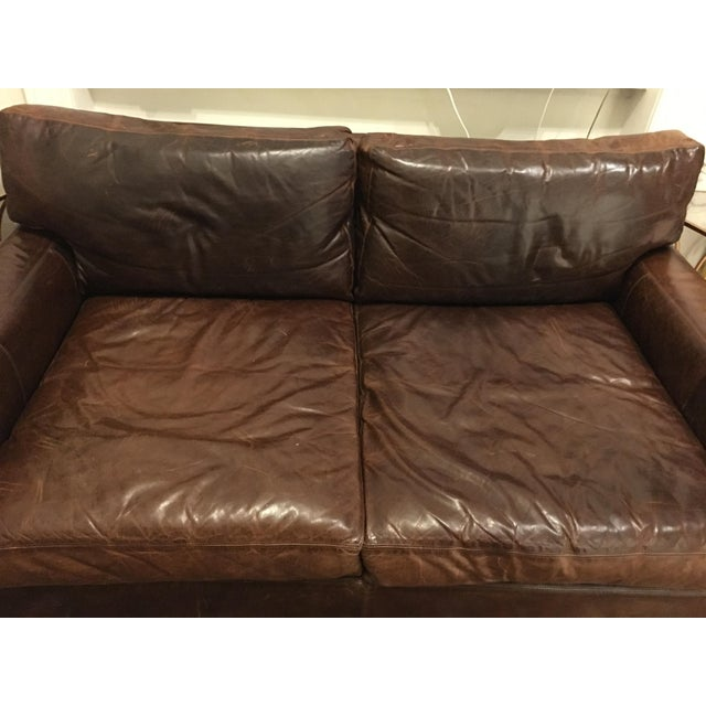 Restoration Hardware Maxwell Leather Sofa - Image 3 of 6