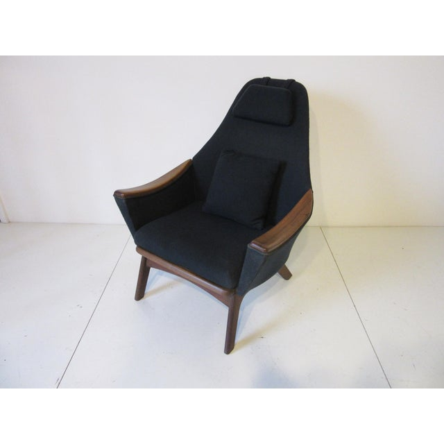 1960s Adrian Pearsall Upholstered Lounge Chair For Sale In Cincinnati - Image 6 of 10