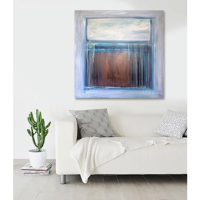 This painting evokes the spirit and majesty of the southwest. Metallic bronze and gold shimmer in the light. Really...