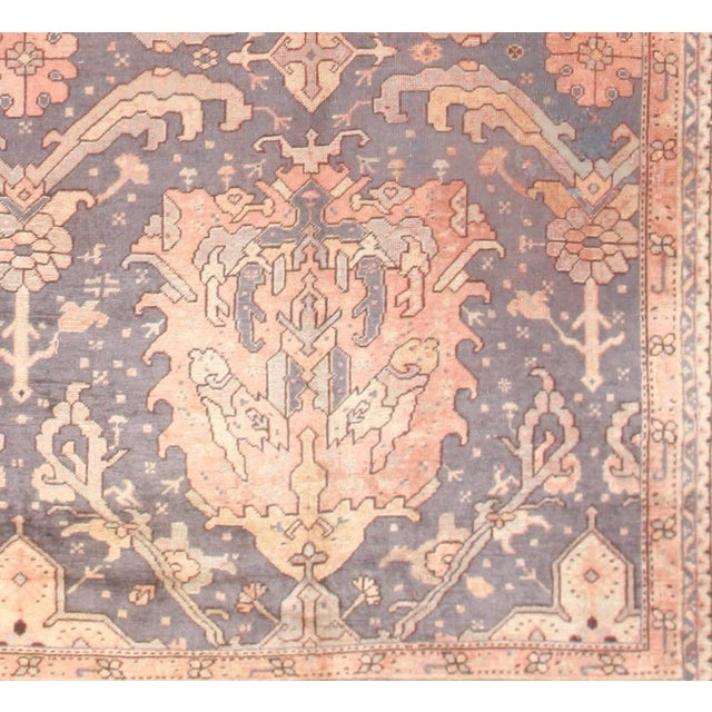 Large Scale Antique Turkish Oushak Rug - 12′3″ × 14′6″ For Sale In New York - Image 6 of 7