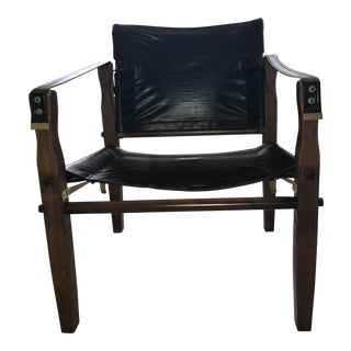 1960s Gold Medal Furniture Safari Chair For Sale