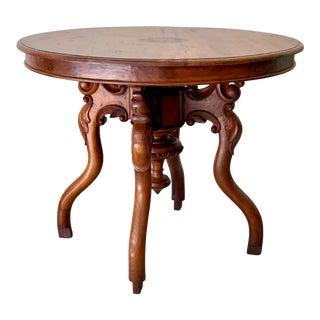 Vintage Indonesian Teak Center Table For Sale