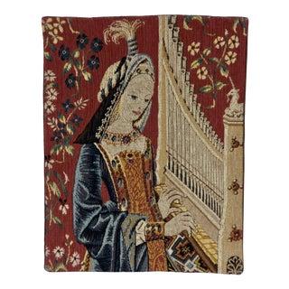 1980s Allan Waller Ltd. Point De l'Halluin Tapestries Lady and the Unicorn Panel #2 For Sale