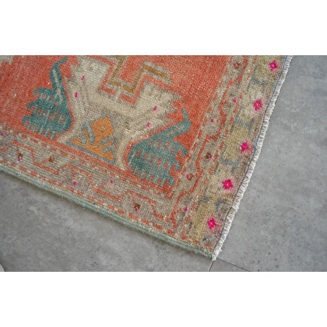 Hand Knotted Door Mat, Entryway Rug, Bath Mat, Kitchen Decor, Small Rug, Turkish Rug - 1′8″ × 3′3″ For Sale - Image 4 of 5