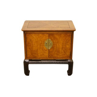 Lane Furniture Asian Chinoiserie Cabinet Nightstand / End Table For Sale