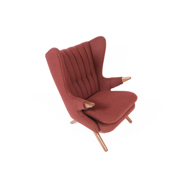 "This rare Model 91 ""Papa Bear"" wingback lounge chair was designed by Svend Skipper for Skipper Møbelfabrik in the 1950s...."