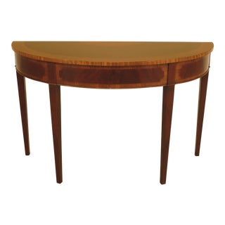 Federal Inlaid Mahogany Demi-Lune Console Table