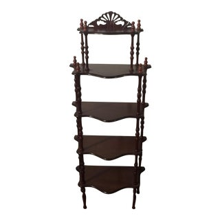 Wooden Etagere